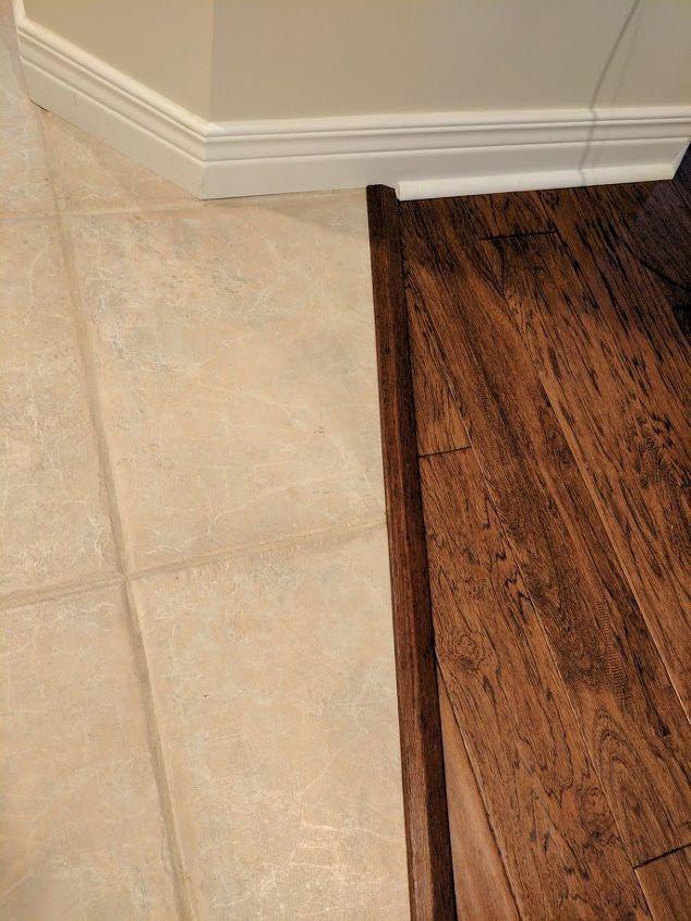 Transitioning Hardwood Floor To Tile Flooris There A Better Way - Hardwood floor patio door transition