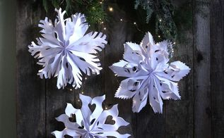 giant snowflake pendants from paper bags