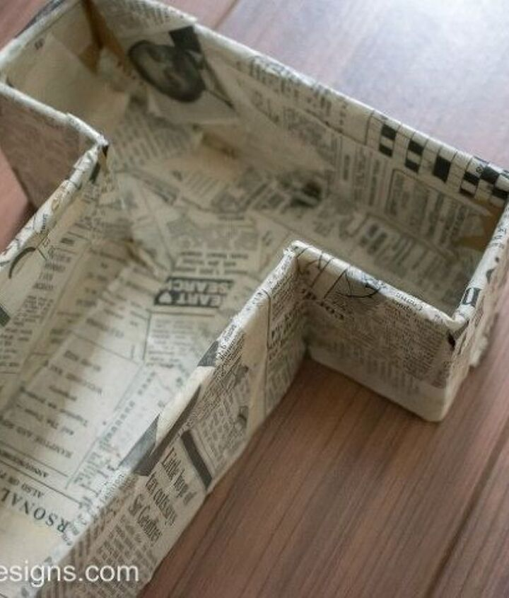 faux metal letters from cardboard