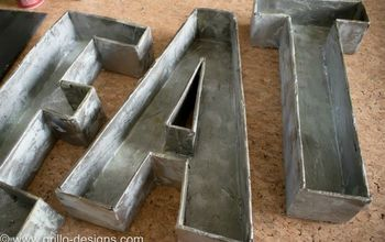 faux metal letters from cardboard