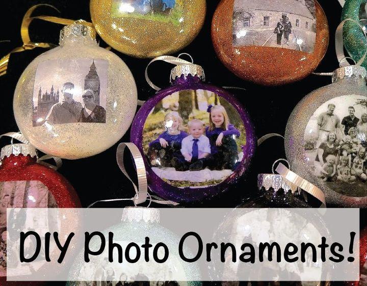 diy photo christmas ornaments, christmas decorations, seasonal holiday decor