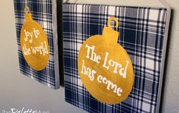 How to Make Your Own Stencil & Flannel Christmas Sign