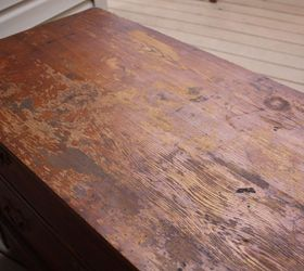 Rustic Antique Dresser, Painted Furniture, Repurposing Upcycling, Top  Before Sanding
