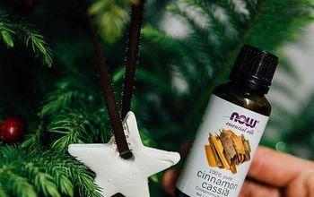essential oil ornaments, christmas decorations, seasonal holiday decor