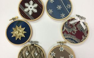 repurpose ugly neckties into beautiful christmas ornaments, christmas decorations, seasonal holiday decor, Elegant ornaments