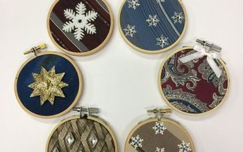 Repurpose Ugly Neckties Into Beautiful Christmas Ornaments