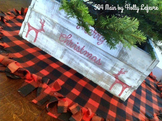 no sew buffalo plaid christmas tree skirt
