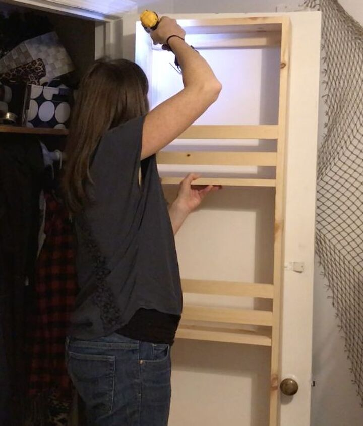 closet door built in storage, closet, doors, storage ideas