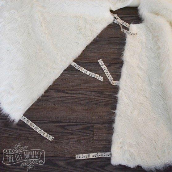 no sew faux fur christmas tree skirt