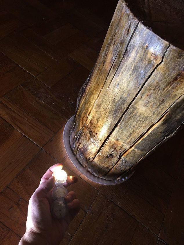 Light Up Logs Hometalk