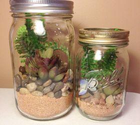 Mason Jar Home Decor Ideas Part - 40: 6. This Adorable Winter Terrarium