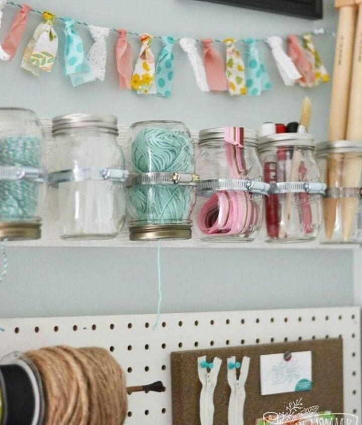 s 14 exciting mason jar ideas you just have to try, mason jars, 11 The crafty creative shelf idea