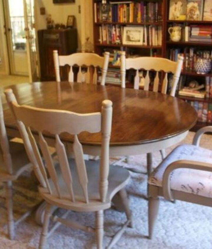s 9 dining room table makeovers we can t stop looking at, painted furniture, After An elegant and newly polished table