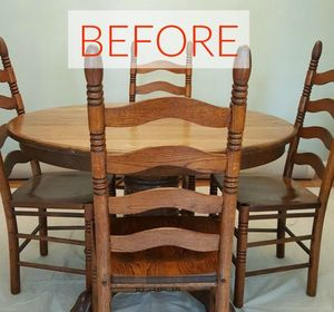 s 9 dining room table makeovers we can t stop looking at, painted furniture