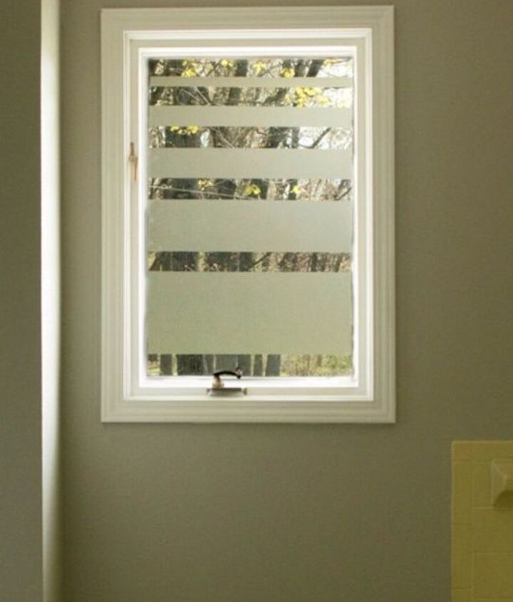 s how to get privacy without curtains, home decor, how to, window treatments, Cover the glass with contact paper