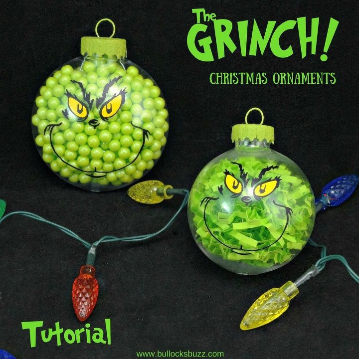 two adorable diy grinch christmas ornaments christmas decorations seasonal holiday decor