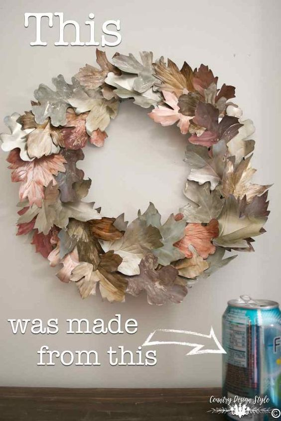 turn your soda cans in winter decor, home decor