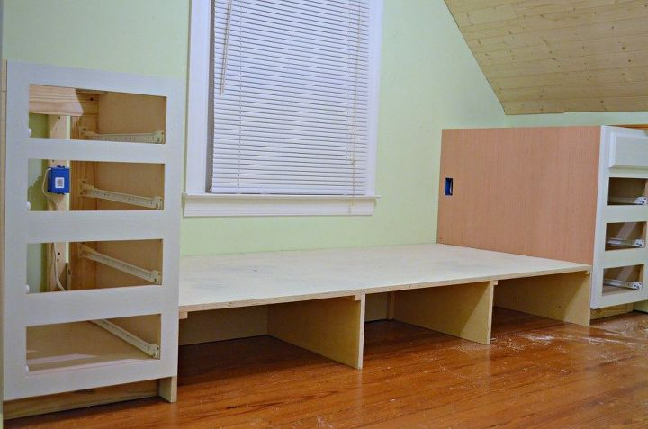 How to Make a Built in Bed Using Stock Kitchen Cabinets | Hometalk