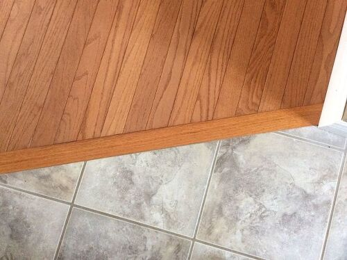 Transitioning hardwood floor to tile floor-is there a better way ...