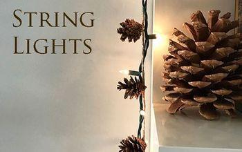 Pinecone String Lights Garland