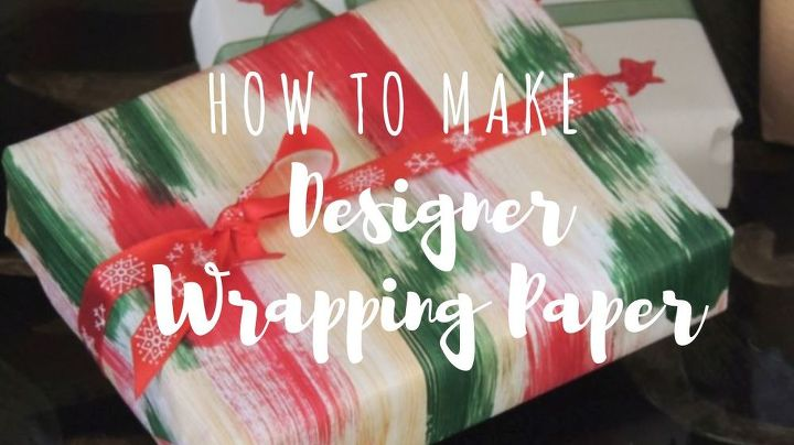 how to make designer paper for wrapping gifts, how to