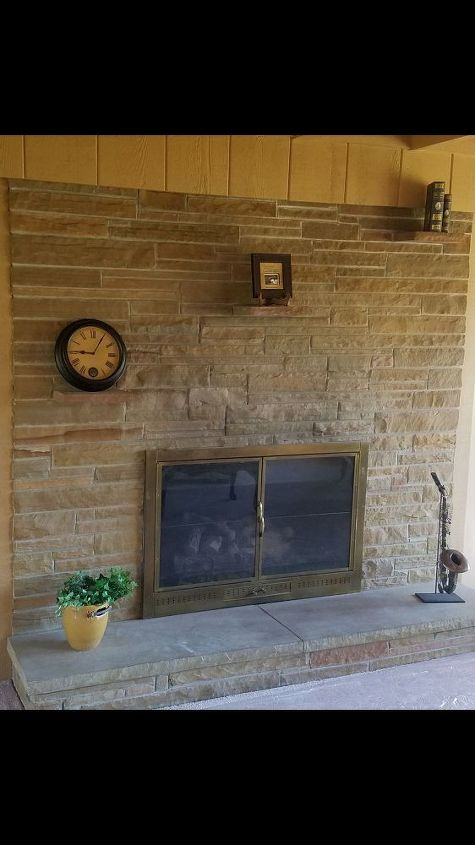 q how to remove 3 brick shelves above the fireplace, concrete masonry, fireplaces mantels, how to, shelving ideas