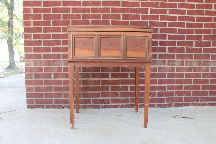 sewing machine cabinet turned tea cart, kitchen cabinets, kitchen design