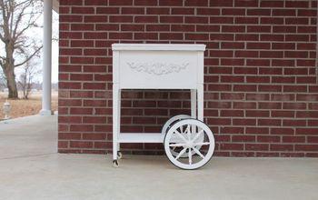 Sewing Machine Cabinet Turned Tea Cart