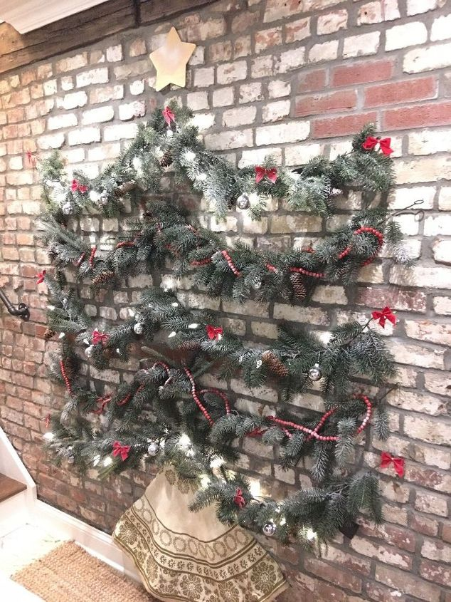 Christmas tree on a wall hometalk christmas tree on a wall publicscrutiny Image collections