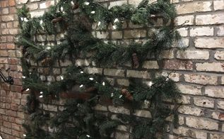 christmas tree on a wall