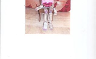 wine coe ornament doll , christmas decorations, seasonal holiday decor