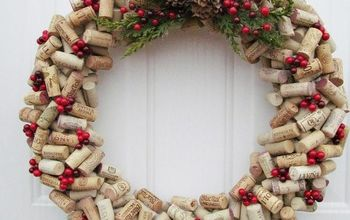 the wine cork wreath you need to make this year, crafts, wreaths