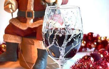 Christmas DIY: Birch Tree Wine Glasses