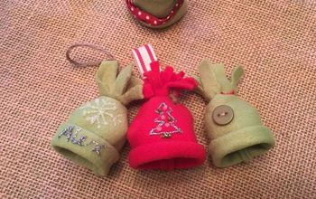 Fleece Mini Stocking Hat Ornaments, Package Toppers or Garland