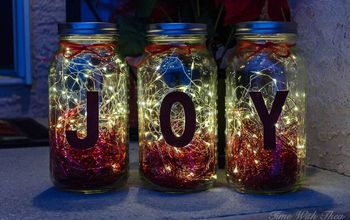 Make Gorgeous Christmas Luminaries Using Mason Jars and Twinkle Lights