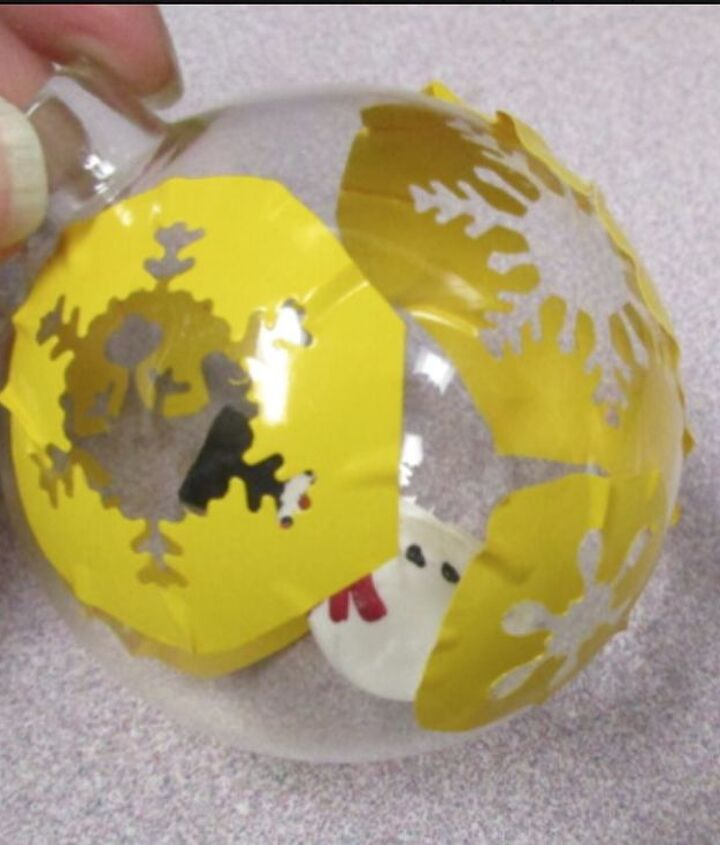 etched glass captured snowman ornament, christmas decorations, seasonal holiday decor