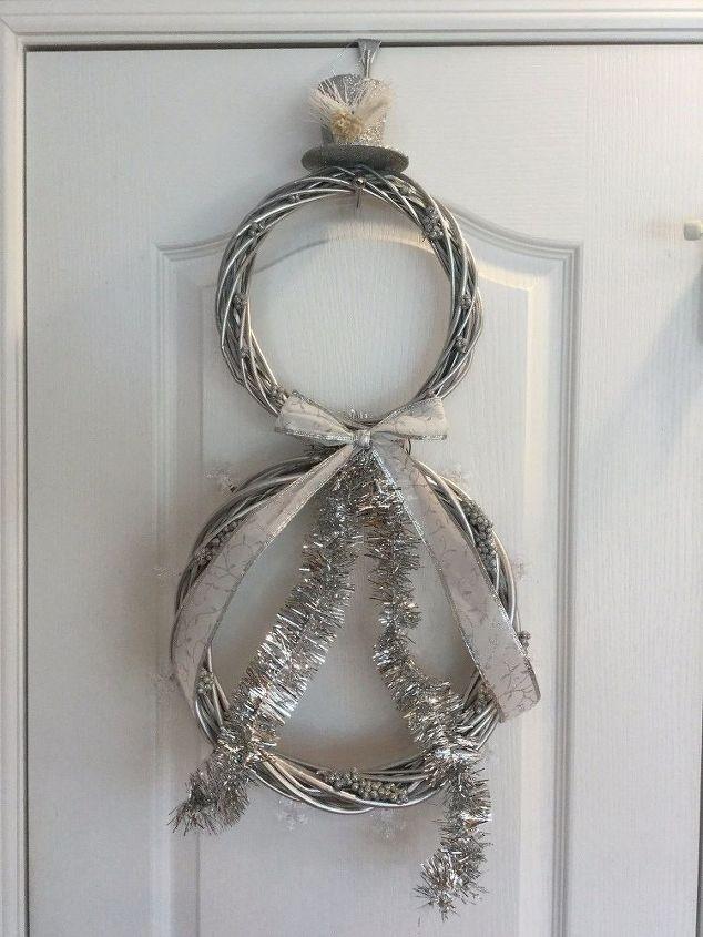 light up snowman wreath, crafts, wreaths