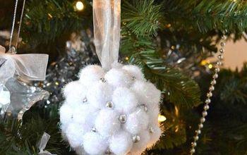 create an easy pom pom christmas ornament, christmas decorations, seasonal holiday decor