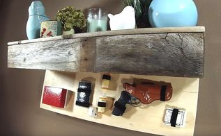 hidden compartment floating shelf, shelving ideas