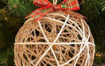 Cute Twine Ball Christmas Ornament Tutorial