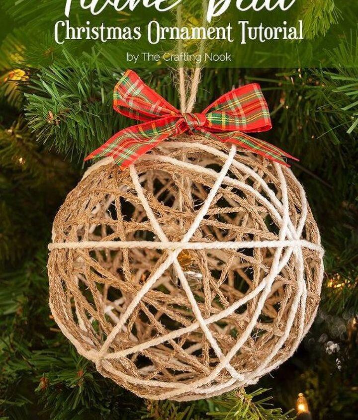 cute twine ball christmas ornament tutorial, christmas decorations, how to, seasonal holiday decor