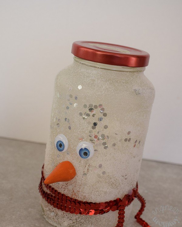 diy snowman mason jar luminary, mason jars