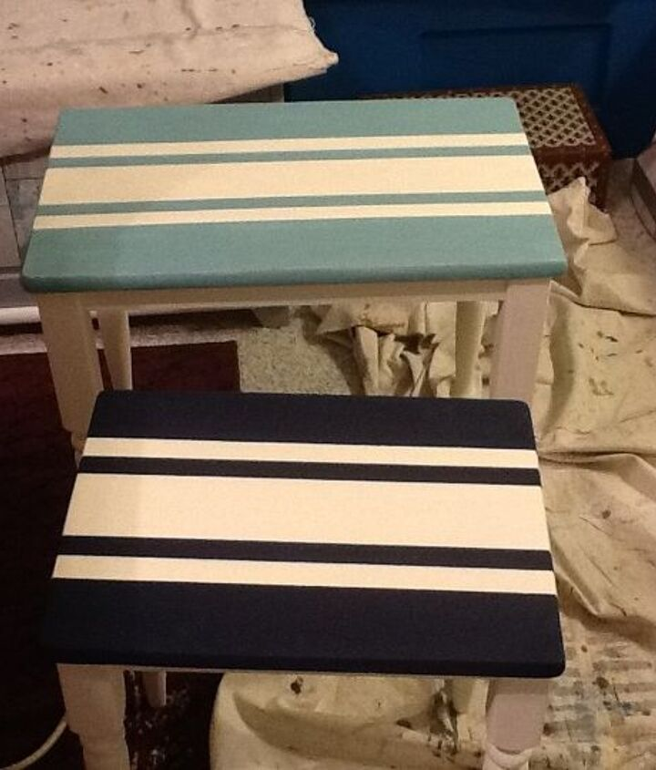 stacking tables, painted furniture