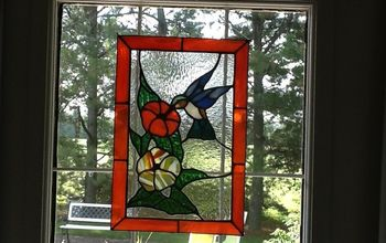 stained glass humminbird