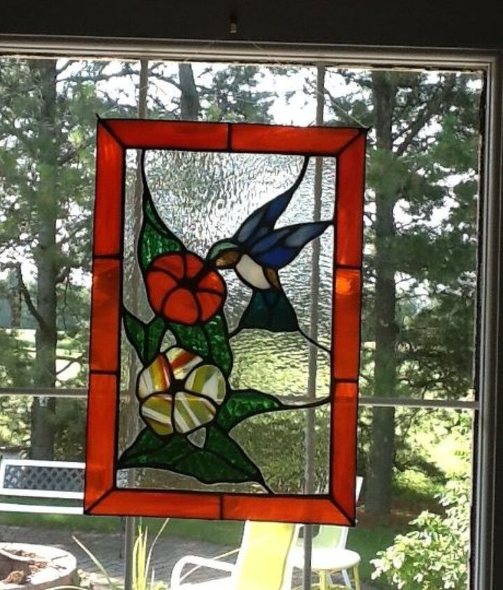 stained glass humminbird