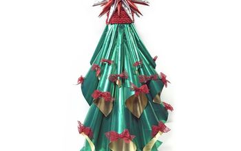 simple foil christmas tree decoration