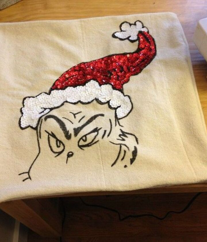 knock off grinch pillow