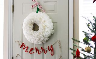 diy coffee filter wreath, crafts, painted furniture, wreaths