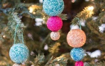Sparkling Glitter Ball Ornaments