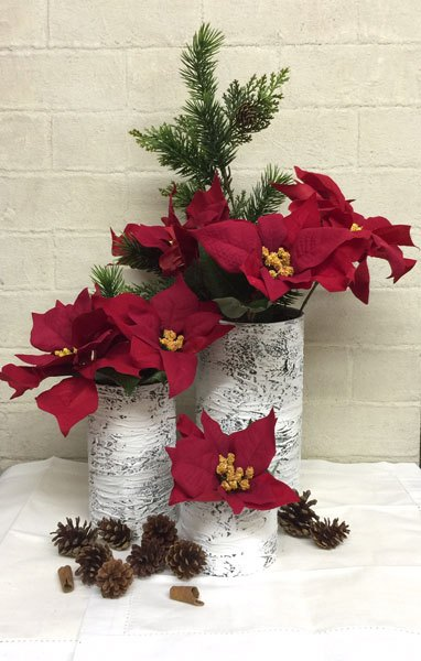 christmas birch center pieces diy , gardening